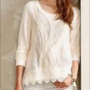 Anthropologie Angel of the North Small Beige lace